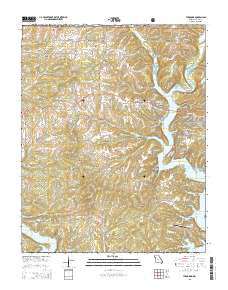 Theodosia Missouri Current topographic map, 1:24000 scale, 7.5 X 7.5 Minute, Year 2015