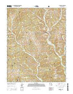 Thornfield Missouri Current topographic map, 1:24000 scale, 7.5 X 7.5 Minute, Year 2015 from Missouri Map Store