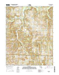 Tiffin Missouri Current topographic map, 1:24000 scale, 7.5 X 7.5 Minute, Year 2015