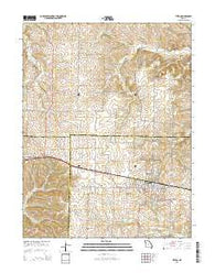 Tipton Missouri Current topographic map, 1:24000 scale, 7.5 X 7.5 Minute, Year 2015