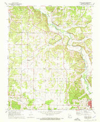 Tipton Ford Missouri Historical topographic map, 1:24000 scale, 7.5 X 7.5 Minute, Year 1972
