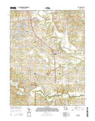 Troy Missouri Current topographic map, 1:24000 scale, 7.5 X 7.5 Minute, Year 2015