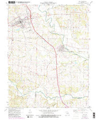 Troy Missouri Historical topographic map, 1:24000 scale, 7.5 X 7.5 Minute, Year 1972