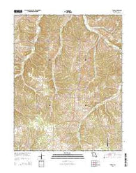Tunas Missouri Current topographic map, 1:24000 scale, 7.5 X 7.5 Minute, Year 2015
