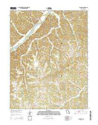 Tuscumbia Missouri Current topographic map, 1:24000 scale, 7.5 X 7.5 Minute, Year 2015