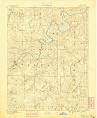 Tuscumbia Missouri Historical topographic map, 1:125000 scale, 30 X 30 Minute, Year 1888