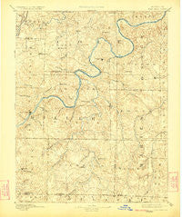 Tuscumbia Missouri Historical topographic map, 1:125000 scale, 30 X 30 Minute, Year 1894