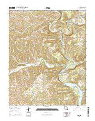 Udall Missouri Current topographic map, 1:24000 scale, 7.5 X 7.5 Minute, Year 2015