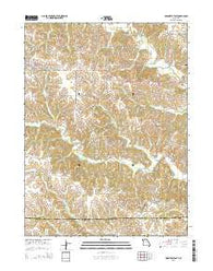 Unionville East Missouri Current topographic map, 1:24000 scale, 7.5 X 7.5 Minute, Year 2015