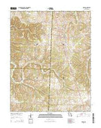 Urbana Missouri Current topographic map, 1:24000 scale, 7.5 X 7.5 Minute, Year 2015 from Missouri Map Store