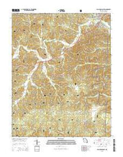 Van Buren South Missouri Current topographic map, 1:24000 scale, 7.5 X 7.5 Minute, Year 2015 from Missouri Maps Store