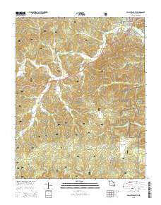 Van Buren South Missouri Current topographic map, 1:24000 scale, 7.5 X 7.5 Minute, Year 2015