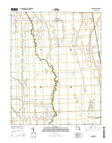 Vanduser Missouri Current topographic map, 1:24000 scale, 7.5 X 7.5 Minute, Year 2015