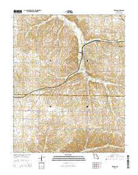 Verona Missouri Current topographic map, 1:24000 scale, 7.5 X 7.5 Minute, Year 2015