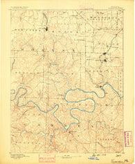 Versailles Missouri Historical topographic map, 1:125000 scale, 30 X 30 Minute, Year 1888