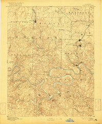 Versailles Missouri Historical topographic map, 1:125000 scale, 30 X 30 Minute, Year 1893