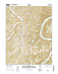 Vienna Missouri Current topographic map, 1:24000 scale, 7.5 X 7.5 Minute, Year 2015
