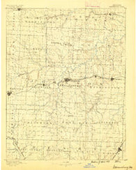 Warrensburg Missouri Historical topographic map, 1:125000 scale, 30 X 30 Minute, Year 1887
