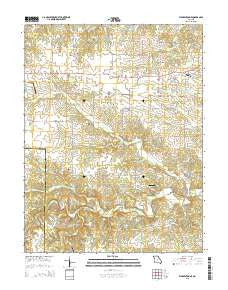 Warrenton NE Missouri Current topographic map, 1:24000 scale, 7.5 X 7.5 Minute, Year 2015