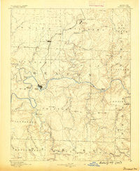 Warsaw Missouri Historical topographic map, 1:125000 scale, 30 X 30 Minute, Year 1887