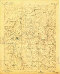 Warsaw Missouri Historical topographic map, 1:125000 scale, 30 X 30 Minute, Year 1894