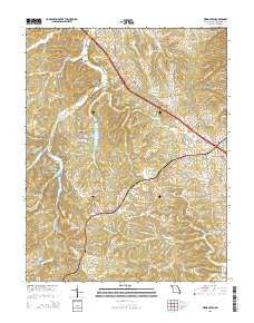 Weingarten Missouri Current topographic map, 1:24000 scale, 7.5 X 7.5 Minute, Year 2015