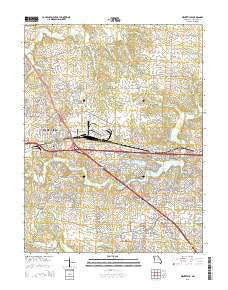 Wentzville Missouri Current topographic map, 1:24000 scale, 7.5 X 7.5 Minute, Year 2015