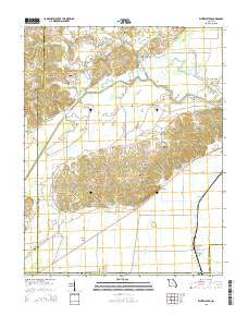 Whitewater Missouri Current topographic map, 1:24000 scale, 7.5 X 7.5 Minute, Year 2015