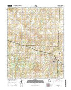 Windsor Missouri Current topographic map, 1:24000 scale, 7.5 X 7.5 Minute, Year 2014 from Missouri Map Store