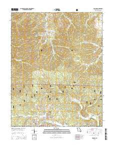 Winona Missouri Current topographic map, 1:24000 scale, 7.5 X 7.5 Minute, Year 2015