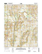 Worland Missouri Current topographic map, 1:24000 scale, 7.5 X 7.5 Minute, Year 2014 from Missouri Map Store