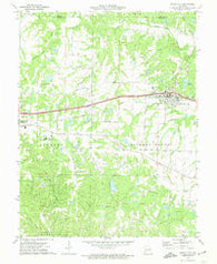 Wright City Missouri Historical topographic map, 1:24000 scale, 7.5 X 7.5 Minute, Year 1972