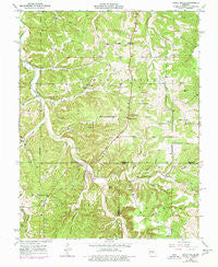 Yancy Mills Missouri Historical topographic map, 1:24000 scale, 7.5 X 7.5 Minute, Year 1950