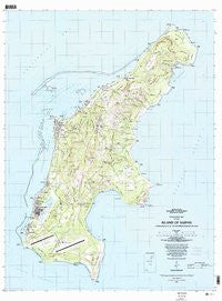 Island Of Saipan Northern Mariana Islands Historical topographic map, 1:25000 scale, 7.5 X 7.5 Minute, Year 1983