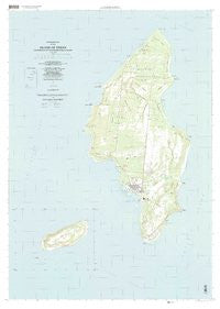 Island Of Tinian Northern Mariana Islands Historical topographic map, 1:25000 scale, 7.5 X 7.5 Minute, Year 1999