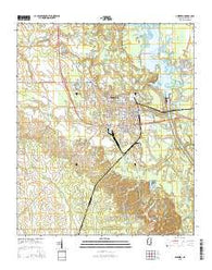 Aberdeen Mississippi Current topographic map, 1:24000 scale, 7.5 X 7.5 Minute, Year 2015