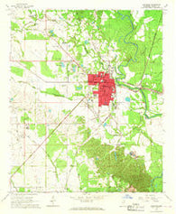 Aberdeen Mississippi Historical topographic map, 1:24000 scale, 7.5 X 7.5 Minute, Year 1966