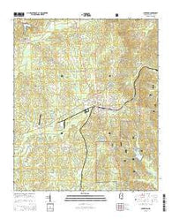 Ackerman Mississippi Current topographic map, 1:24000 scale, 7.5 X 7.5 Minute, Year 2015
