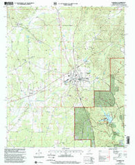 Ackerman Mississippi Historical topographic map, 1:24000 scale, 7.5 X 7.5 Minute, Year 2000