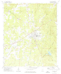 Ackerman Mississippi Historical topographic map, 1:24000 scale, 7.5 X 7.5 Minute, Year 1972
