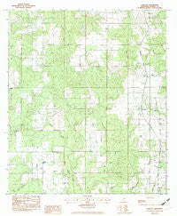 Agricola Mississippi Historical topographic map, 1:24000 scale, 7.5 X 7.5 Minute, Year 1982