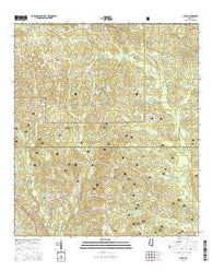 Airey Mississippi Current topographic map, 1:24000 scale, 7.5 X 7.5 Minute, Year 2015