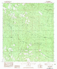Airey Mississippi Historical topographic map, 1:24000 scale, 7.5 X 7.5 Minute, Year 1982