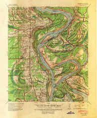 Alsatia Louisiana Historical topographic map, 1:62500 scale, 15 X 15 Minute, Year 1939