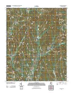 Altitude Mississippi Historical topographic map, 1:24000 scale, 7.5 X 7.5 Minute, Year 2012