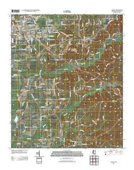 Amory Mississippi Historical topographic map, 1:24000 scale, 7.5 X 7.5 Minute, Year 2012