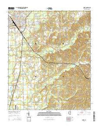 Amory Mississippi Current topographic map, 1:24000 scale, 7.5 X 7.5 Minute, Year 2015