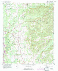 Amory SW Mississippi Historical topographic map, 1:24000 scale, 7.5 X 7.5 Minute, Year 1992