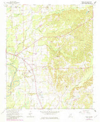 Amory SW Mississippi Historical topographic map, 1:24000 scale, 7.5 X 7.5 Minute, Year 1966