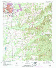 Amory Mississippi Historical topographic map, 1:24000 scale, 7.5 X 7.5 Minute, Year 1992